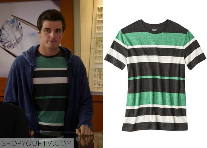 matty green striped top