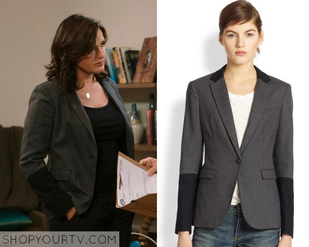 Law Amp Order Olivia S Grey And Black Colorblock Blazer