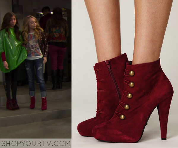 Girl Meets World: Season 1 Episode 10 Maya's Red Heel Ankle Boots ...