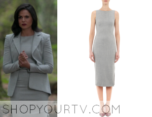 Once Upon a Time: season 4 episode 1 Regina's grey pencil dress