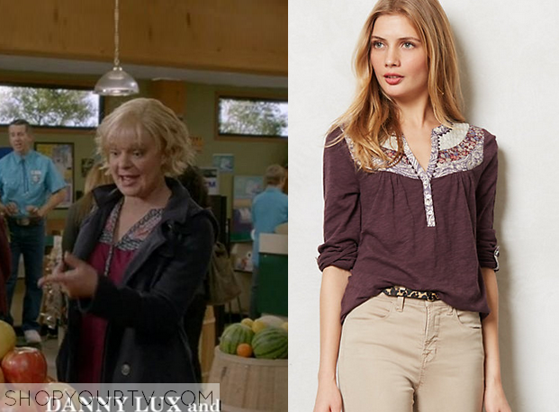 Where can I find t-shirts worn by Virginia on Raising Hope?