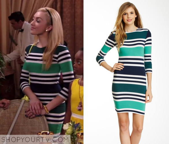 27327c9e8d9 Jessie  Season 3 Episode 21 Emma s Striped Bodycon Dress