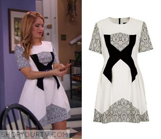 3x24 Jessie Prescott Debbie Ryan Snakeskin X Printed White Grey Dress