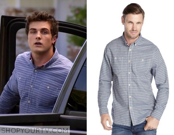4x17 Awkward Matty McKibben Beau Mirchoff Stripe Shirt