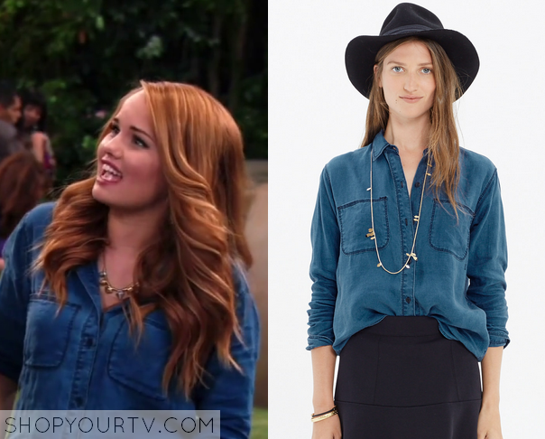 Jessie 3x21 Blue Chambray Shirt