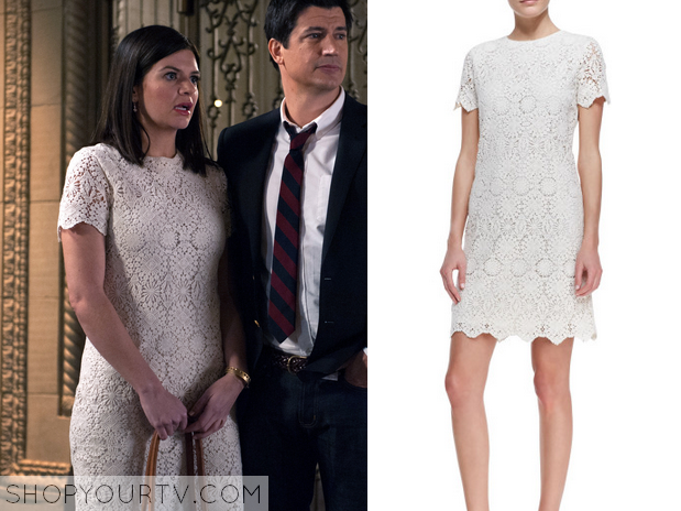 annie white lace crochet shift dress
