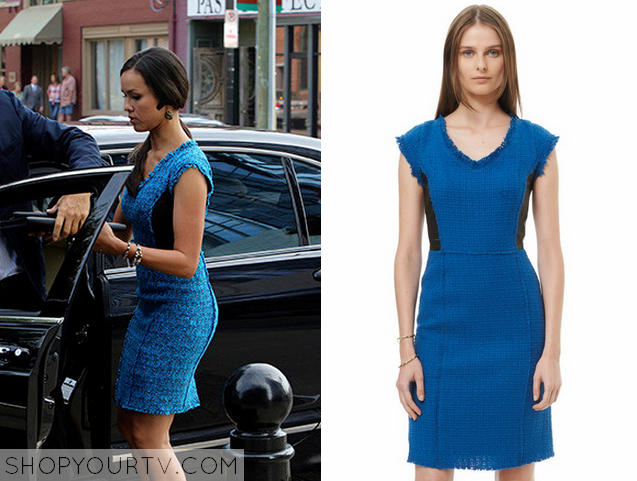 Nashville Season 3 Episode 2 Celia S Blue Tweed Dress