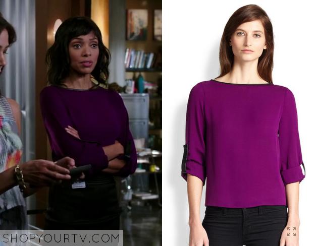 camille purple blouse