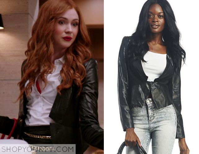 eliza black leather jacket