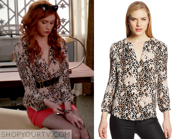 eliza leopard blouse