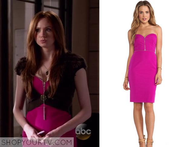 eliza pink zip dress