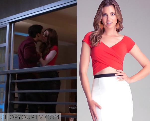 b3012d7cf71 Selfie: Season 1 Episode 2 Eliza's Red Crop Top | Shop Your TV
