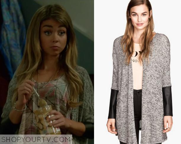 Haley Leather Sleeve Cardigan