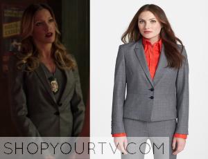 arrow: season 3 episode 3 laurel's grey wool blazer