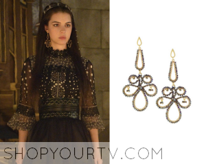 Reign: Season 2 Episode 1 Mary's Swirl Earrings