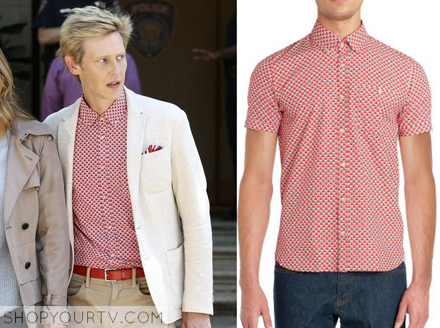 nolan red print shirt
