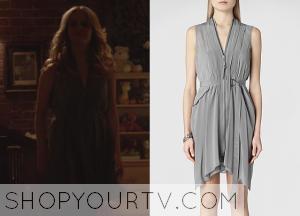 The Originals: Season 2 Episode 1 Rebekah's Sheer Belted Zipper Dress