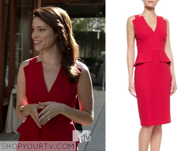 robin red peplum dress