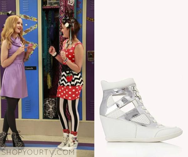 fb9b61dc1b Liv   Maddie  Season 2 Episode 4 Kathy Kan s Wedge Cut Out Sneakers