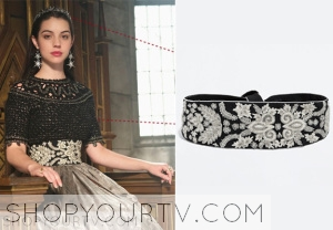 REIGN: SEASON 2 EPISODE 8 MARY'S Embellished Sash Belt