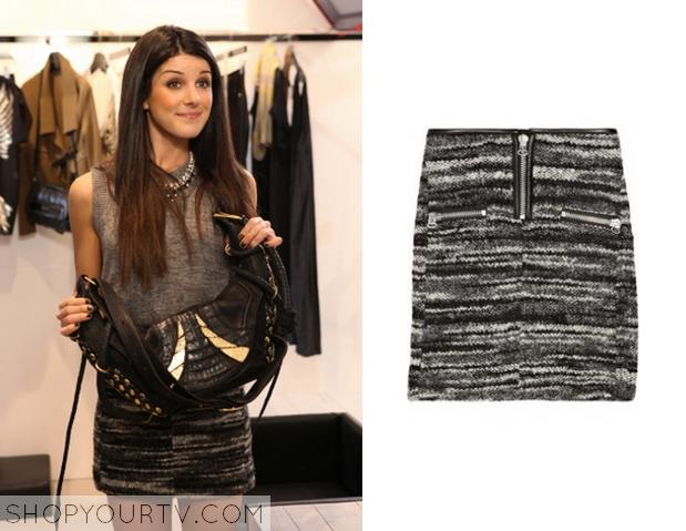 annie tweed zip skirt
