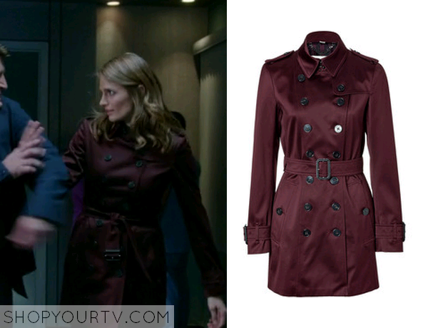 beckett burgundy trench
