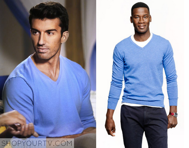 Jane The Virgin Season 1 Episode 7 Blue V Neck Sweater