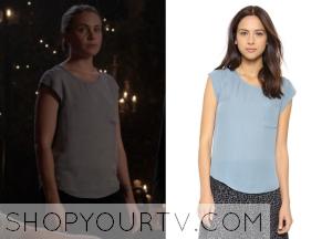 The Originals: Season 2 Episode 8 Camille's Silk Cap Sleeve Pocket Tee