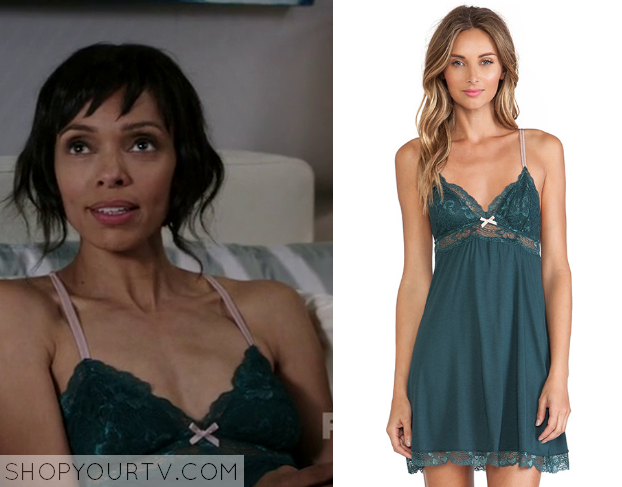 camille green lace camisole