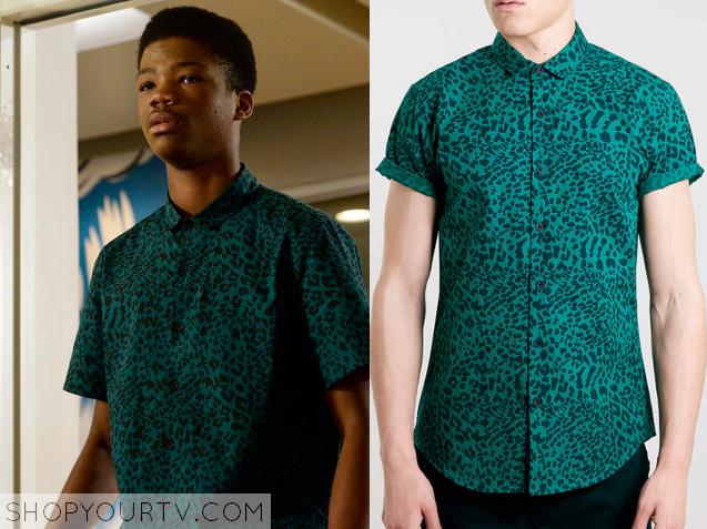 dash green leopard shirt