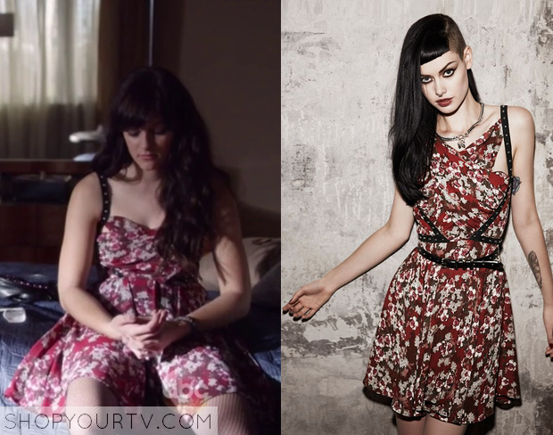 layla red floral dress