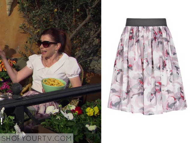 lily purple floral skirt