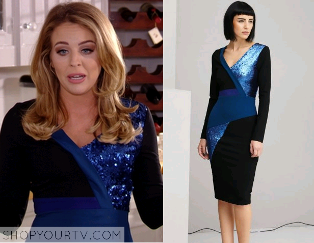 lydia blue sequin dress