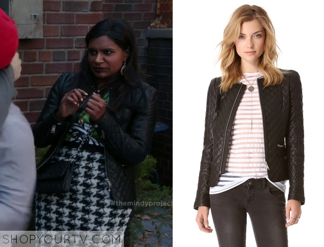 mindy quilted leather jacket