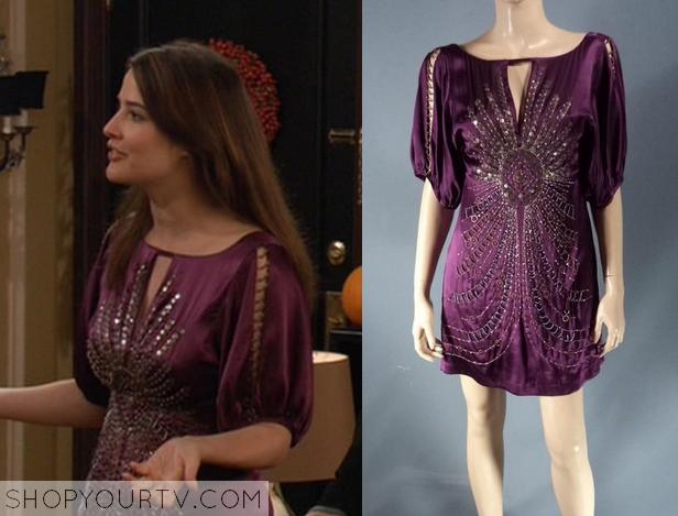 robin purple sequin dress