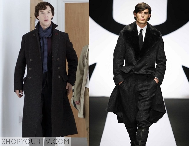 Sherlock: Series 1-3 Sherlock's black tweed coat – Shop Your TV