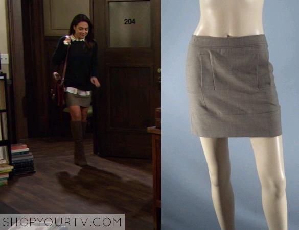 ffa7b2a97d HIMYM: Season 9 Episode 11 Lisa's Brown Mini Skirt | Shop Your TV