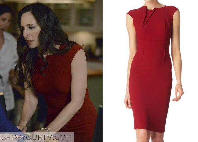 victoria red dress
