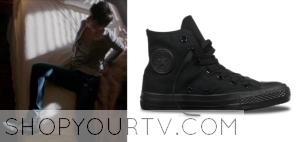Grimm: Season 3 Episode 19 Trubel's Black Hi Top Sneaker