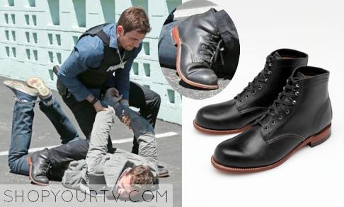 2f0f2c258cd Stalker: Season 1 Episode 3 Jack's Black Leather Boot | Shop Your TV