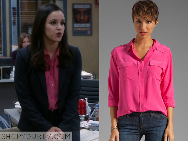 amy pink blouse