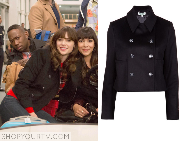 Shop Your TV: New Girl: Season 4 Episode 11 Jess' Black Pea Coat