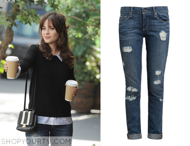 4a5dbb5ce Zooey Deschanel Fashion, Clothes, Style and Wardrobe worn on TV ...