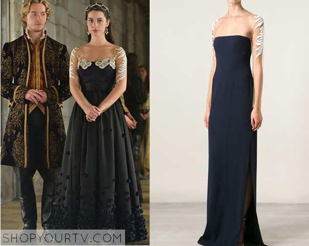 mary navy gown