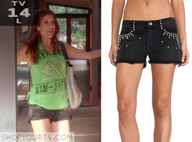 rebecca studded shorts