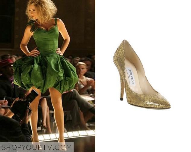 serena gold heels