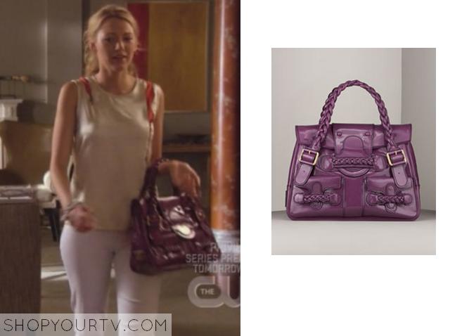 serena purple bag