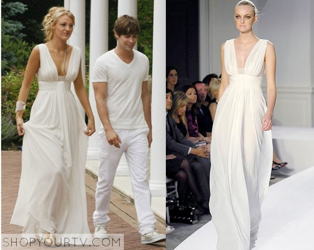 Gossip Girl: Season 2 Episode 1 Serena\'s White Gown – Shop Your TV