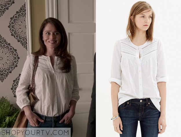 5b55db209cd93 The Mentalist  Season 7 Episode 3 Lisbon s White Eyelet Blouse ...