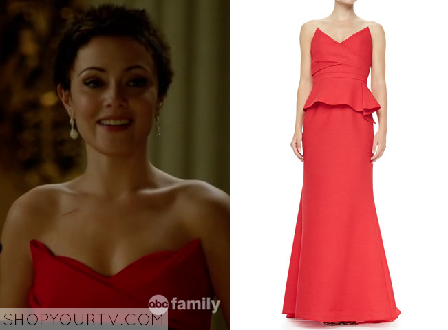 Chasing Life: Season 1 Episode 12 April\'s Red Strapless Gown – Shop ...